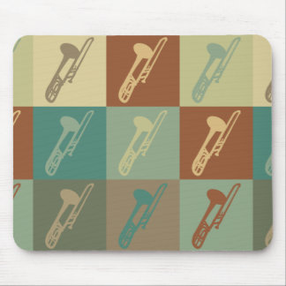 Trombone Pop Art Mouse Pad