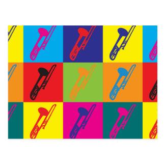 Trombone Pop Art Postcard