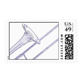 Trombone Postage Stamp for Personalized Mail