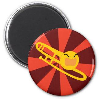 Trombone que rabia imán redondo 5 cm