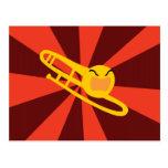 Trombone que rabia tarjetas postales