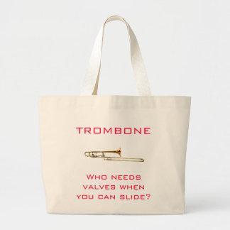 Trombone:  ¿Quién necesita las válvulas?  Bolso Bolsa Tela Grande