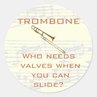 Trombone:  ¿Quién necesita las válvulas?  Pegatina
