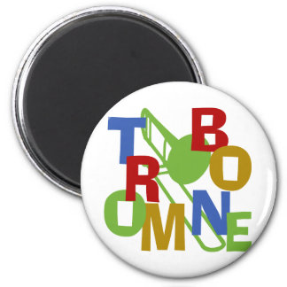 Trombone Scramble 2 Inch Round Magnet