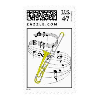 Trombone Sello Postal