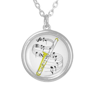 Trombone Silver Plated Necklace