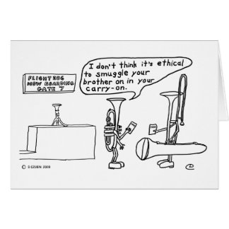 Trombone Smuggling Greeting Card