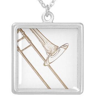 Trombone Square Necklace