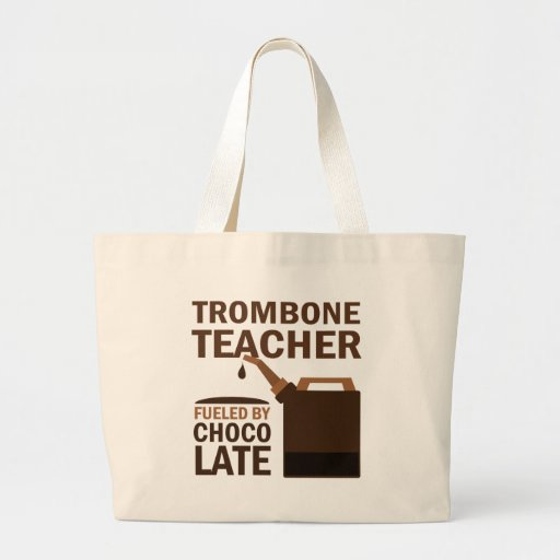 Trombone Teacher (Funny) Chocolate Jumbo Tote Bag
