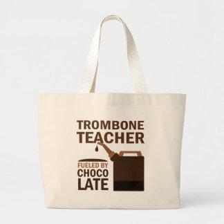 Trombone Teacher (Funny) Chocolate Large Tote Bag