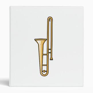 trombone upright graphic 3 ring binder