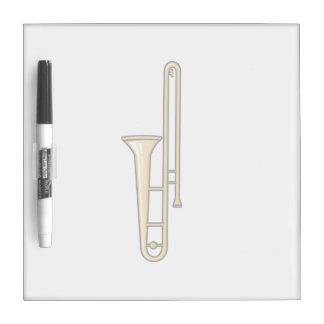trombone upright graphic dry erase board