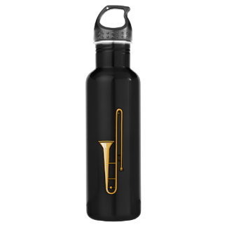 trombone upright graphic water bottle