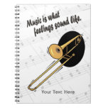 Trombone Version - What Feelings Sound Like Spiral Note Book