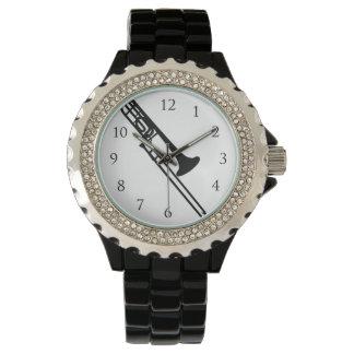Trombone Watch_With Numbers Wrist Watch