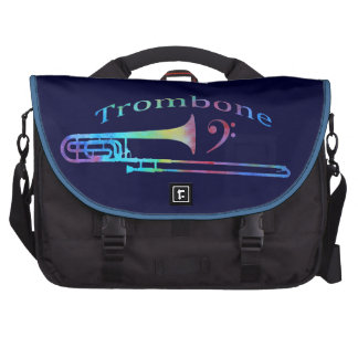 Trombone with Bass Clef Laptop Computer Bag