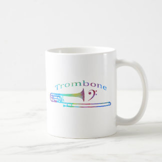 Trombone with Bass Clef Coffee Mug