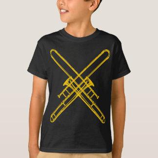 """Trombones """"de cobre amarillo"""" cruzados poleras"""