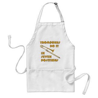 Trombones Do It In 7 Positions Adult Apron