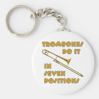 Trombones Do It In 7 Positions Basic Round Button Keychain