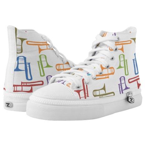 Trombones High-Top Sneakers
