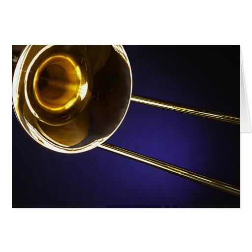 Trombones Image Greeting Card