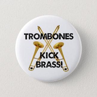 Trombones Kick Brass! Button