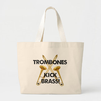 Trombones Kick Brass! Large Tote Bag