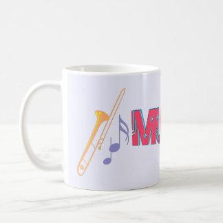Trombones y taza de café del diseño de la música 3