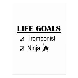 Trombonist Ninja Life Goals Postcard