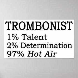 Trombonistt Hot Air Poster