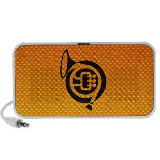 Trompa amarillo-naranja altavoz de viaje