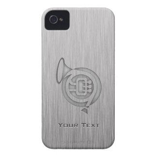 Trompa cepillada de la metal-mirada iPhone 4 Case-Mate cárcasas