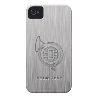 Trompa cepillada de la metal-mirada iPhone 4 Case-Mate coberturas