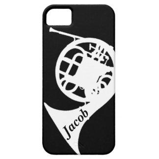 Trompa con nombre de encargo iPhone 5 carcasas