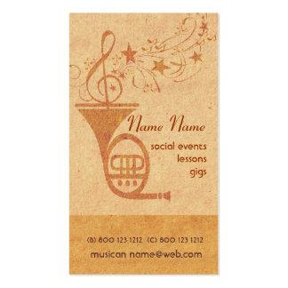 Trompa de la música del vintage tarjetas de negocios