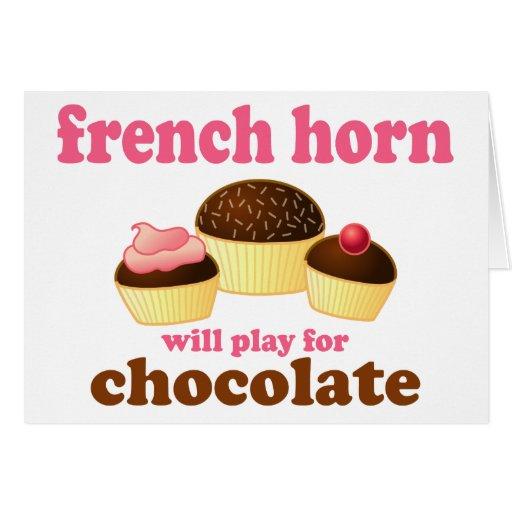 Trompa del chocolate felicitación