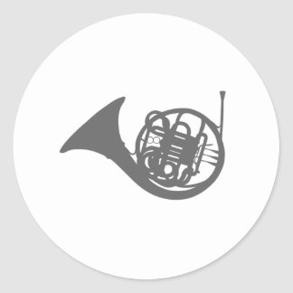 Trompa Pegatina Redonda