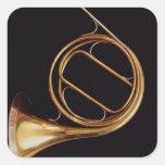 Trompa, por Marcelo Auguste Raoux Pegatina Cuadradas Personalizada