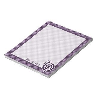 Trompa púrpura blocs de papel