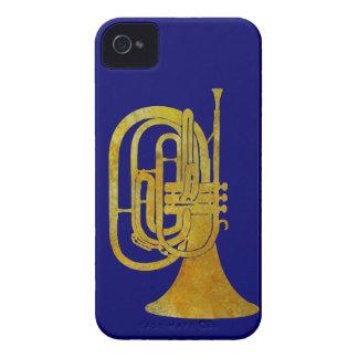 Trompa que marcha de oro iPhone 4 protector