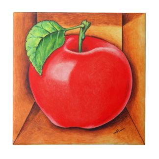 Trompe - l ' oeil Apple Azulejo Cuadrado Pequeño