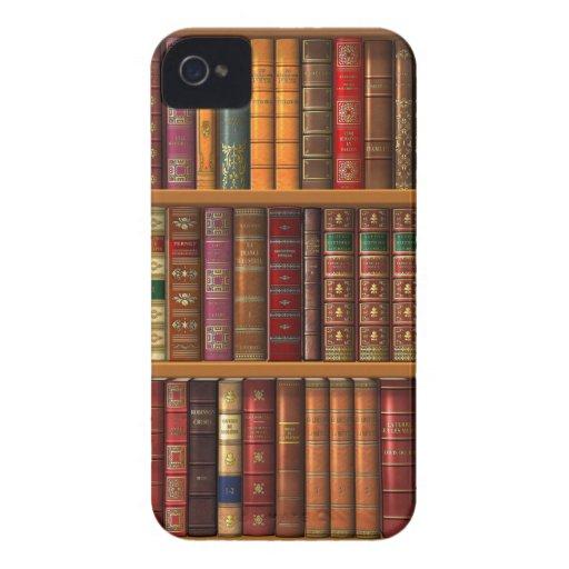 """Trompe - l ' oeil """"biblioteca francesa"""". Case-Mate iPhone 4 protector"""