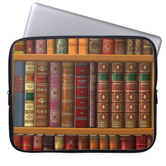 "Trompe - l ' oeil ""biblioteca francesa"". fundas computadoras"