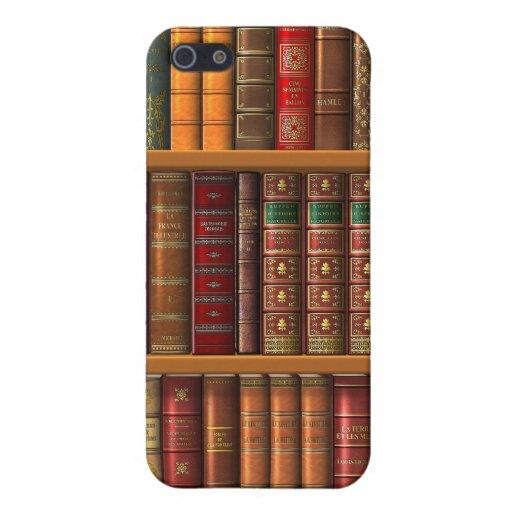 """Trompe - l ' oeil """"biblioteca francesa"""". iPhone 5 carcasa"""