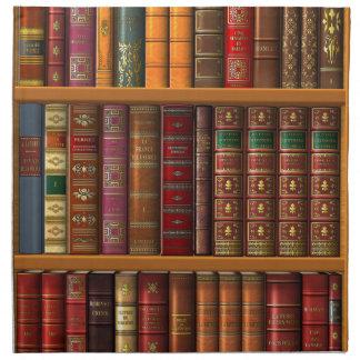 "Trompe - l ' oeil ""biblioteca francesa"". servilletas"