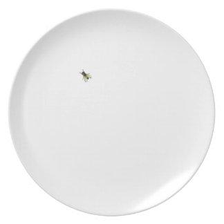 trompe - l ' placa de la mosca del oeil plato