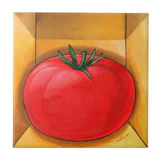 Trompe - l ' tomate del oeil azulejo cuadrado pequeño