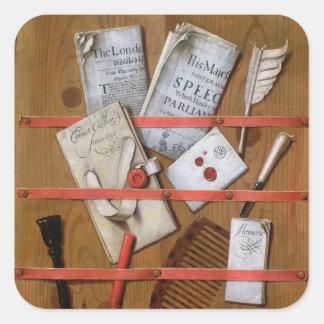 Trompe l'oeil, 1702 square sticker