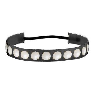 Trompe-l'oeil, 3-d, mabe pearl gem print athletic headband
